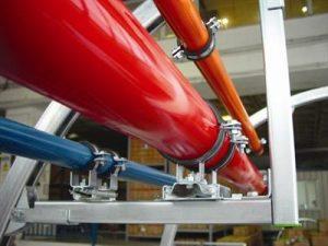 tesisat boruları renkli